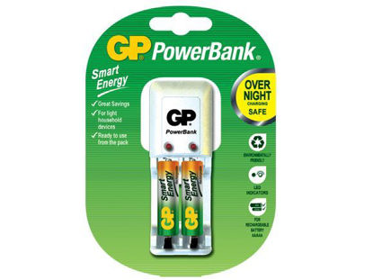 Picture of GP Batteries PowerBank Package - AAA 2 pcs.