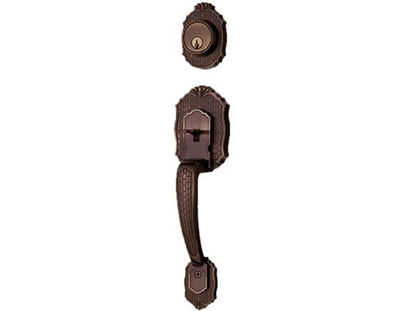 Picture of Ezset 400 Series - Tubular Handleset PE, Antique Brass