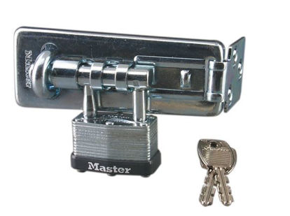 Picture of Master Lock 44MM with 11CM  Laminated Steel Hasp Padlock, MSP450D