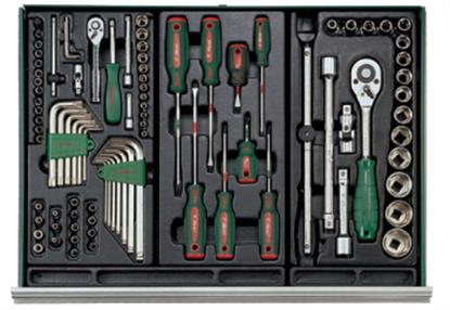 Picture of Hans 134 Pcs. Tools With 5 Drawers Tool Carriage