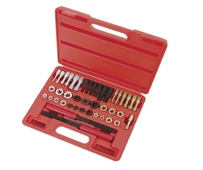 Picture of Licota 42 Piece Rethreader Kit File Tap and Die Set UNF UNC & Metric with Blow Case  ATH7024