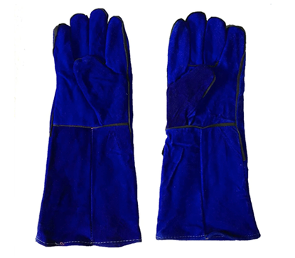 "Picture of S-Ks Tools USA 16"" Genuine Cowhide Welding Gloves (Blue)"
