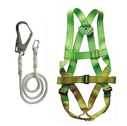 Picture of Adela H-5038 Full Body Harness Set with Lanyard Big Hook (Green/Yellow)