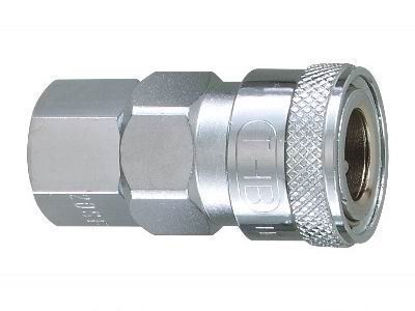 """Picture of THB 3/8"""" Zinc Quick Coupler Body - Female End"""