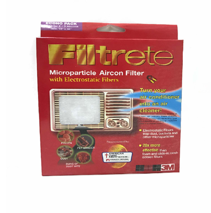 "Picture of 3M Filtrete (TM) Aircon filter econo pack 15"" x 36"""