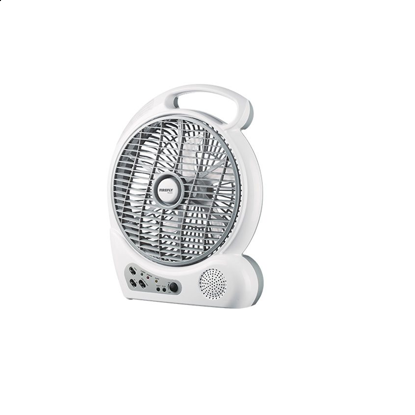 "Picture of Firefly 10"" Oscillating 2-Speed Fan with 4 LED Night Light,USB Mobile Phone Charger& FM Scan Radio FEL626"