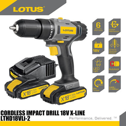 Picture of Lotus Impact Drill 18V X-LINE LTHD18VLi-2