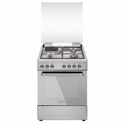 Picture of Tecnogas TFG6031DRX 60CM Range, 3 Gas Burners + 1 Electric Plate | Gas Oven + Electric Grill | Rotisserie