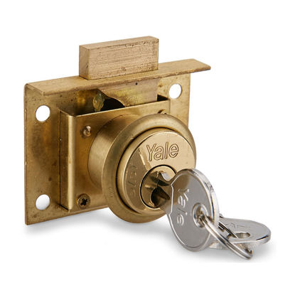 Picture of Drawer Locks Spring Latch Brass Deadbolt 555S