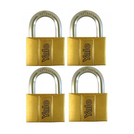 Picture of Brass Padlocks Key Alike 4 Pieces, Multi-Pack V140.50KA4