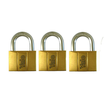 Picture of Brass Padlocks Key Alike 3 pieces, Multi-Pack V140.50KA3