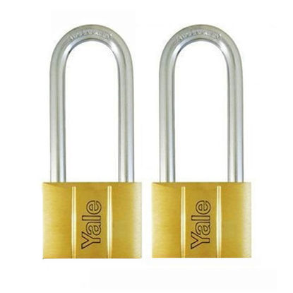 Picture of Brass Padlocks Key Alike 2 Pieces, Multi-Pack V140.50LS90KA2