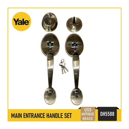 Picture of Yale DH5588 US5, DH5588 US15, Single Cylinder Tubular Double Handle Set, DH5588_US5