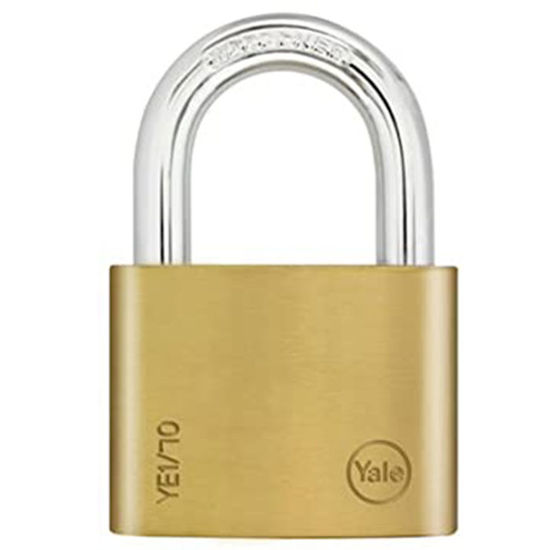 Picture of Yale YE1/70/137/1, Essential Series Indoor Brass Padlock 70mm, YE1701371