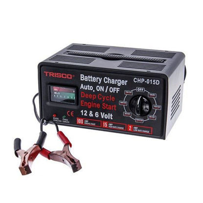Picture of Trisco Battery Charger 15 Amps 6/12 Volts, CHP-015D