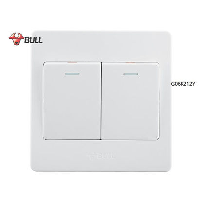 Picture of Bull 2 Gang 3 Way Switch Set (White), G06K212Y