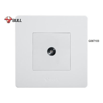 Picture of Bull 1 Gang TV Cable Outlet Set (White), G06T103