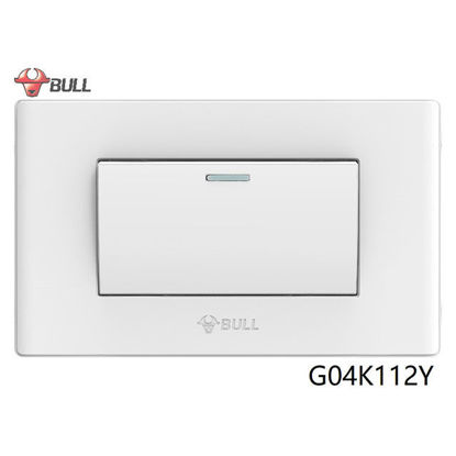 Picture of Bull 1 Gang 3 Way Switch Set (White), G04K112Y