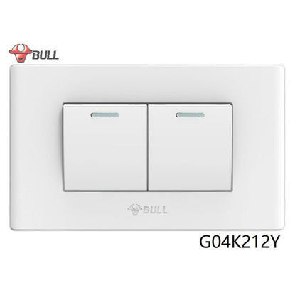 Picture of Bull 2 Gang 3 Way Switch Set (White), G04K212Y