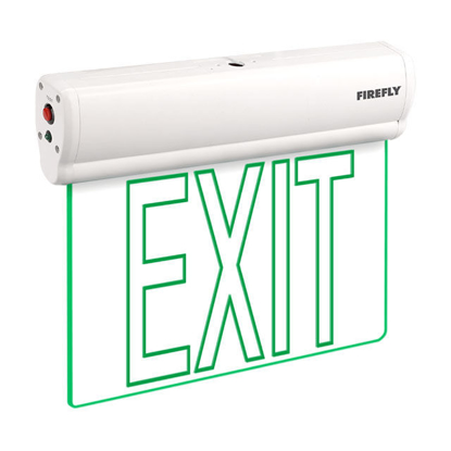 Picture of Firefly Single-Faced Exit Light with Wall/Ceiling Mount Option 3.6V 350mAh Ni-CD Battery, FEL221A